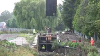 Dudbridge Locks - gates installed in Foundry Lock 3rd October 2013 (Stroudwater Navigation)