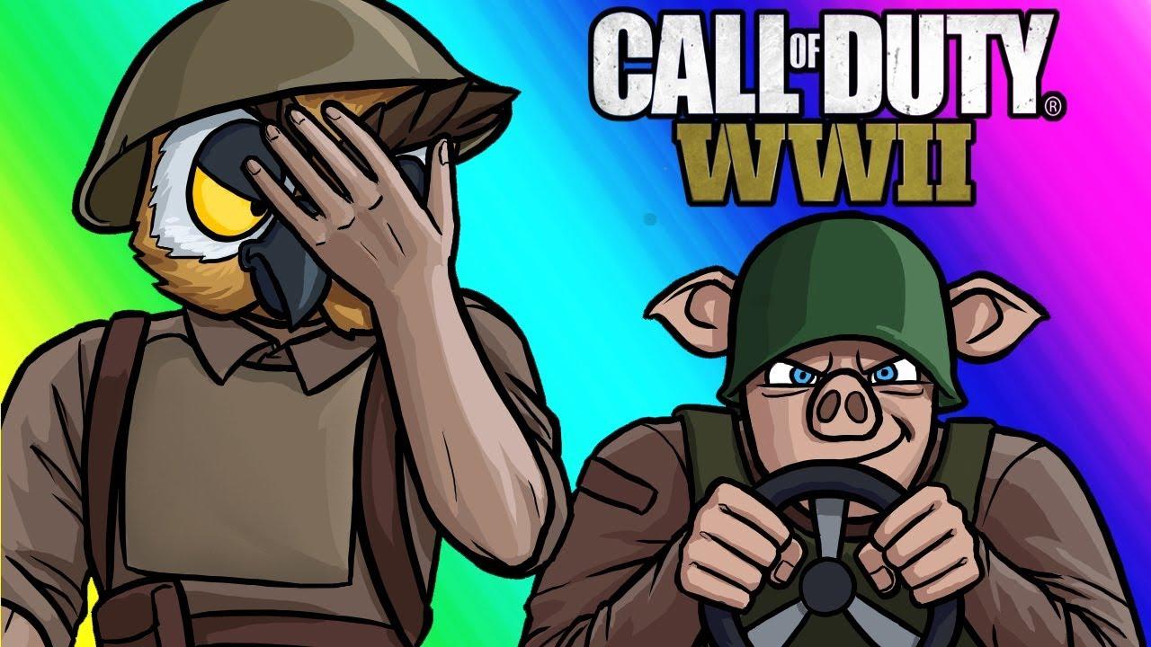 Call of Duty WW2 Funny Moments - Captain Jack's Idiot Platoon