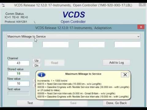 VCDS instruments block