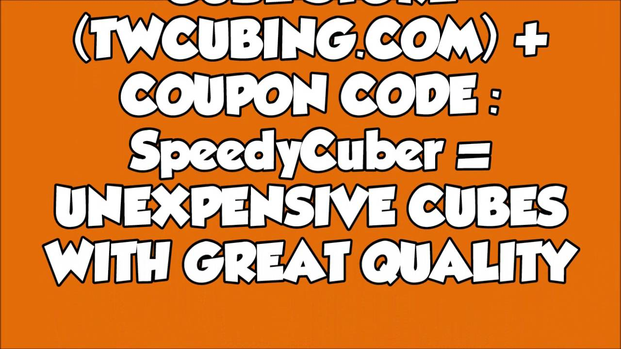 coupon code affiliate link from twcubing com and speedcubeshop