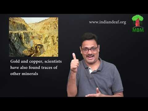 Gold and copper, scientists have also found traces of other minerals