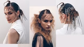 creative women's hairstyle for L'oreal business show 2018