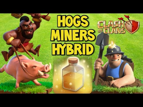 Hogs, Miners, And Hybrid! TH13 Heal Spell Attacks