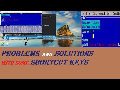 Problems And Solutions With Turbo C++ And Shortcut Keys Use In Turbo C++ In Hindi [turbo C++ 2019]