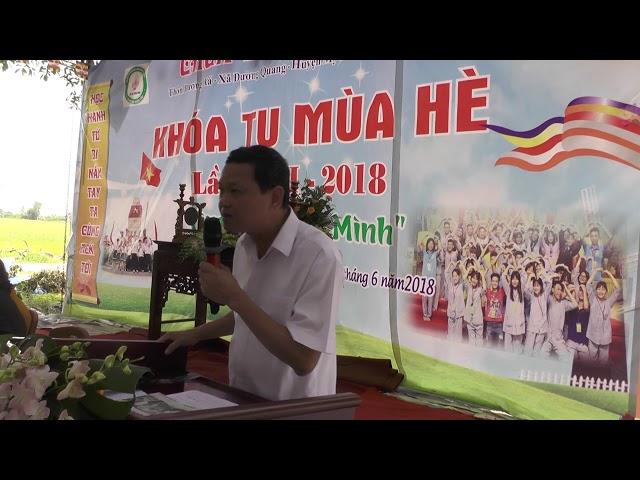 Khóa tu mùa hè chùa Thiên Hương năm 2018 Phát biểu của ông Phạm Thanh sơn