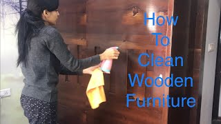 How to Clean Wooden Furniture/ Cleaning Routine / INDIAN CLEANING ROUTINE