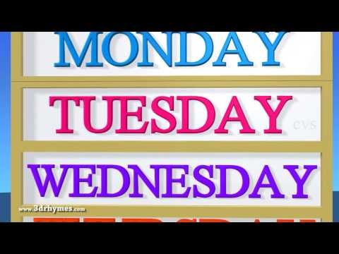 Days of the Week - 3D Animation English Nursery rhyme for children