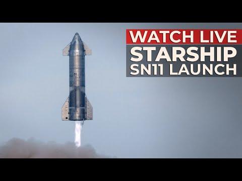 SpaceX's Starship SN11 10km Flight Test (REPLAY)