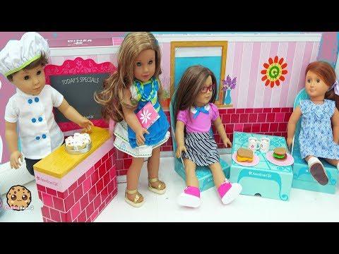 American Girl Food Restaurant Diner - Making Play Doh Food - Cookie Swirl C