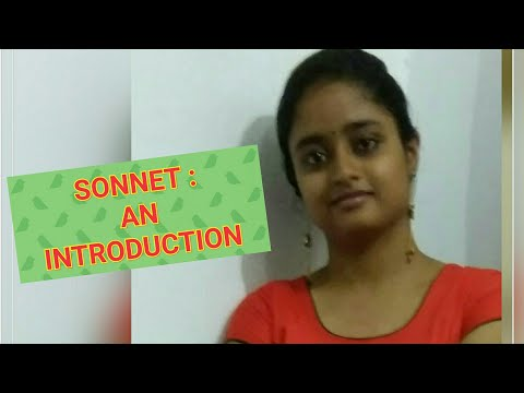 Sonnet (An Introduction)( explained in Hindi)