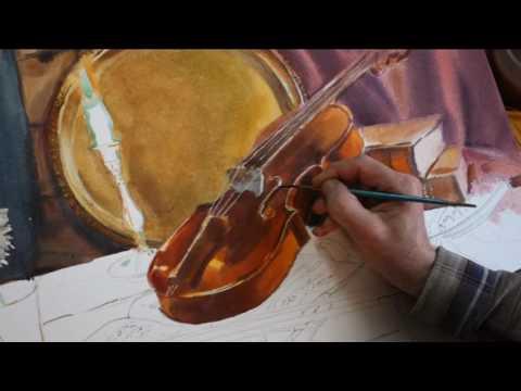 Вопрос: Как нарисовать скрипку?