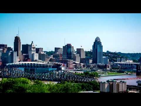 Cincinnati Ohio Skyline Hyper Lapse