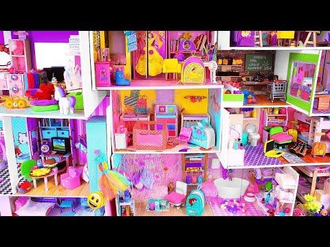 8 DIY Miniature Dollhouses ~ Disney Princess Dollhouse, Shoebox, etc.