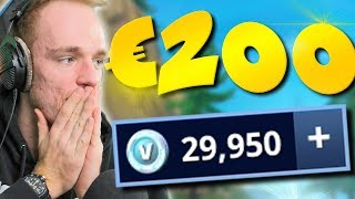 $200 EURO UITGEVEN AAN V-BUCKS!! -Fortnite Battle Royale ESQUADRÕES