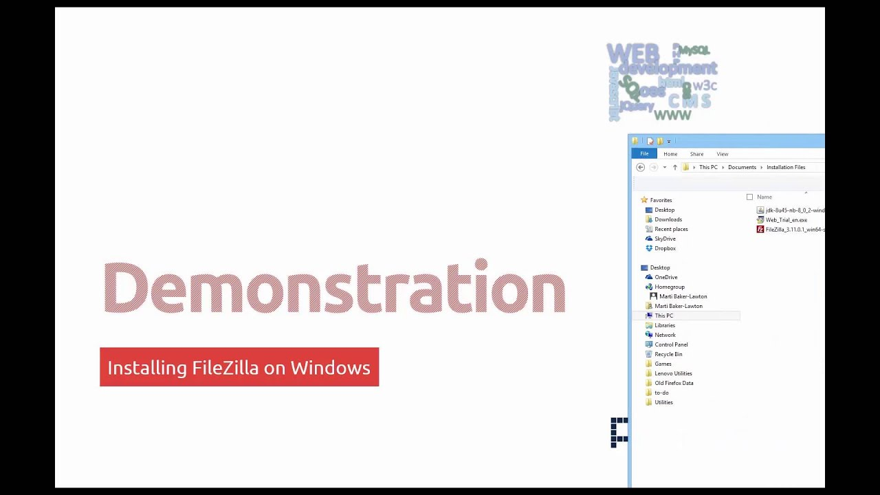 Web Application Developer - Installing an FTP Client
