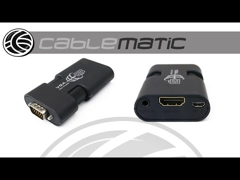 Adaptador VGA A HDMI Con Audio HDTV LKV350mini Distribuido Por CABLEMATIC ®