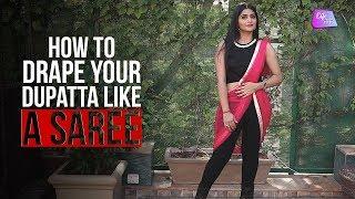 How To Drape Your Dupatta Like A Saree | Fashion | Life Tak