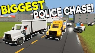 BIGGEST LEGO POLICE CHASE GETAWAY EVER! - Brick Rigs Multiplayer Gameplay - Cop Roleplay
