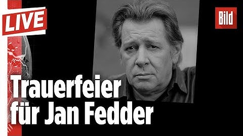 🔴 Deutschland nimmt Abschied vom Schauspieler Jan Fedder | BILD Live vom 14.01.2020