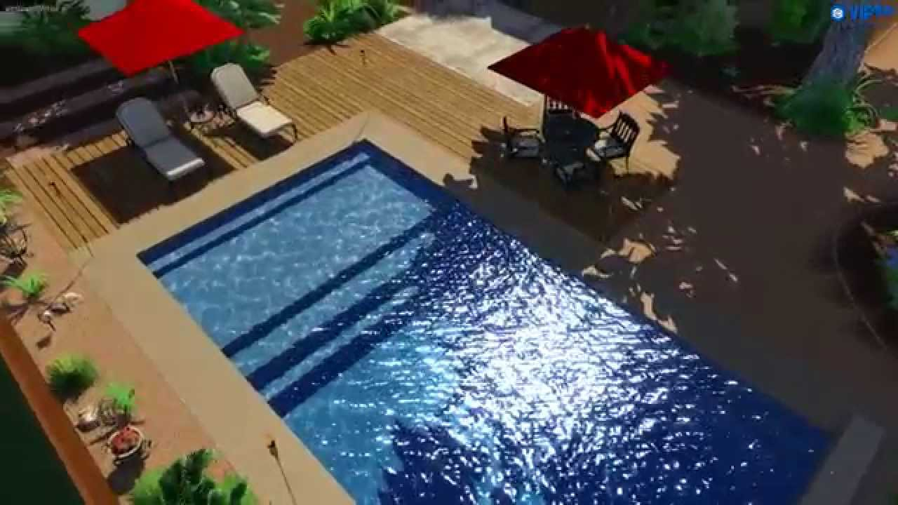 Fiberclassy pools 3d pool design the pinnacle 30 youtube for 3d pool design online free