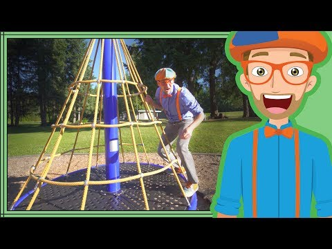 Thumbnail: Learn Colors with Blippi | Playing at the Playground