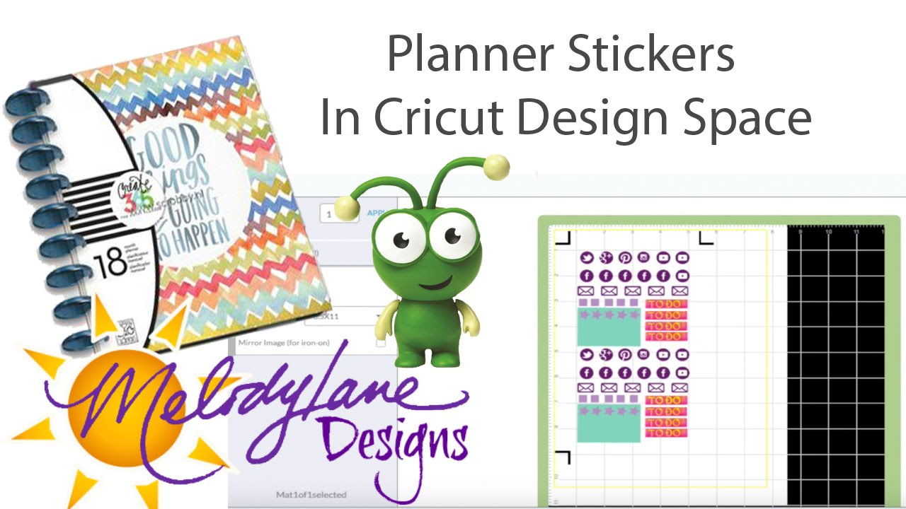 How to make planner stickers on the cricut explore youtube for Make a planner free