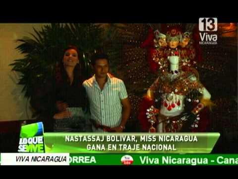 Nastassja Bolívar, Miss Nicaragua gana en traje nacional
