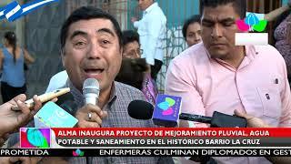 ALMA inaugura proyecto de mejoramiento pluvial, agua potable y saneamiento en el barrio la Cruz.