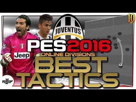 PES 2016  BEST Formations Advanced Tactics  - Juventus (ONLINE Divisions)