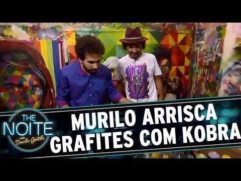 The Noite (09/05/16) Murilo ataca de grafiteiro com Eduardo Kobra