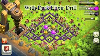 Clash Of Clans Town Hall 7 (TH7) Farming Base With Dark Elixir Drill Speed Build 2015 (HD)