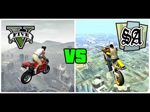 TODAS LAS MOTOS DE GTA V vs GTA SAN ANDREAS