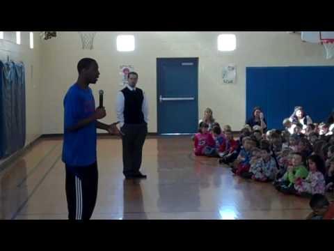 Tyshawn Taylor Speaks to Schwegler Elementary School 2-24-10
