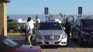 Kim Kardashian and Kanye West leave Nobu Malibu, CA