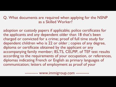 what-documents-are-required-when-applying-for-the-nsnp-as-a-skilled-worker?