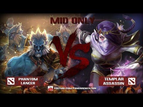 видео: templar assasin vs phantom lancer [Битва героев mid only] dota 2