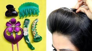 How To Use Hair ClutcherTo Make Quick And Easy HairstylesHair Puff Ponytail And Bun