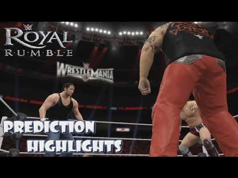 WWE 2K16 Royal Rumble 2016 - Prediction Highlights