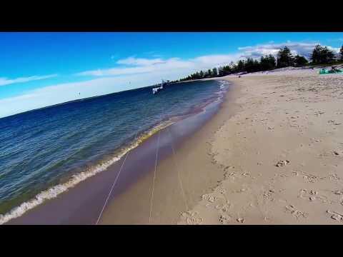 Revolution NYM (3 Vent) kite flying Brighton Beach, Sydney with Frankie