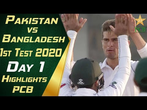 Pakistan vs Bangladesh 2020 | Full Highlights Day 1 | 1st Te