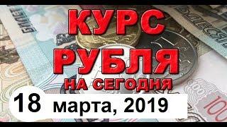 Смотреть видео Курс доллара, курс рубля (обзор от 18 марта 2019 года) онлайн