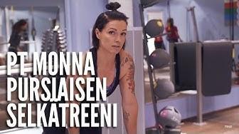 Personal trainer Monna Pursiaisen selkätreeni