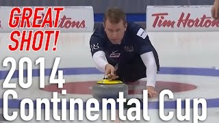 Jeff Stoughton - In-Off Take Out - 2014 WFG Continental Cup of Curling