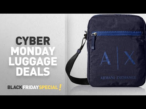 Cyber Monday A|X Armani Exchange Luggage Deals: Armani Exchange Men's Light Weight Crinkle Nylon