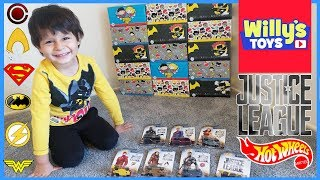 Justice League HOT WHEELS Toy Unboxing Review SUPERMAN Batman Wonder Woman FLASH - Willy
