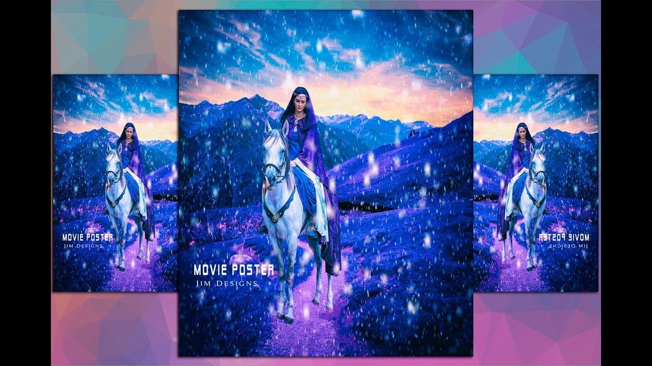 Photoshop CC | Manipulation | Tutorials | Efecto | Nocturno  | Invierno | nieve | póster de película