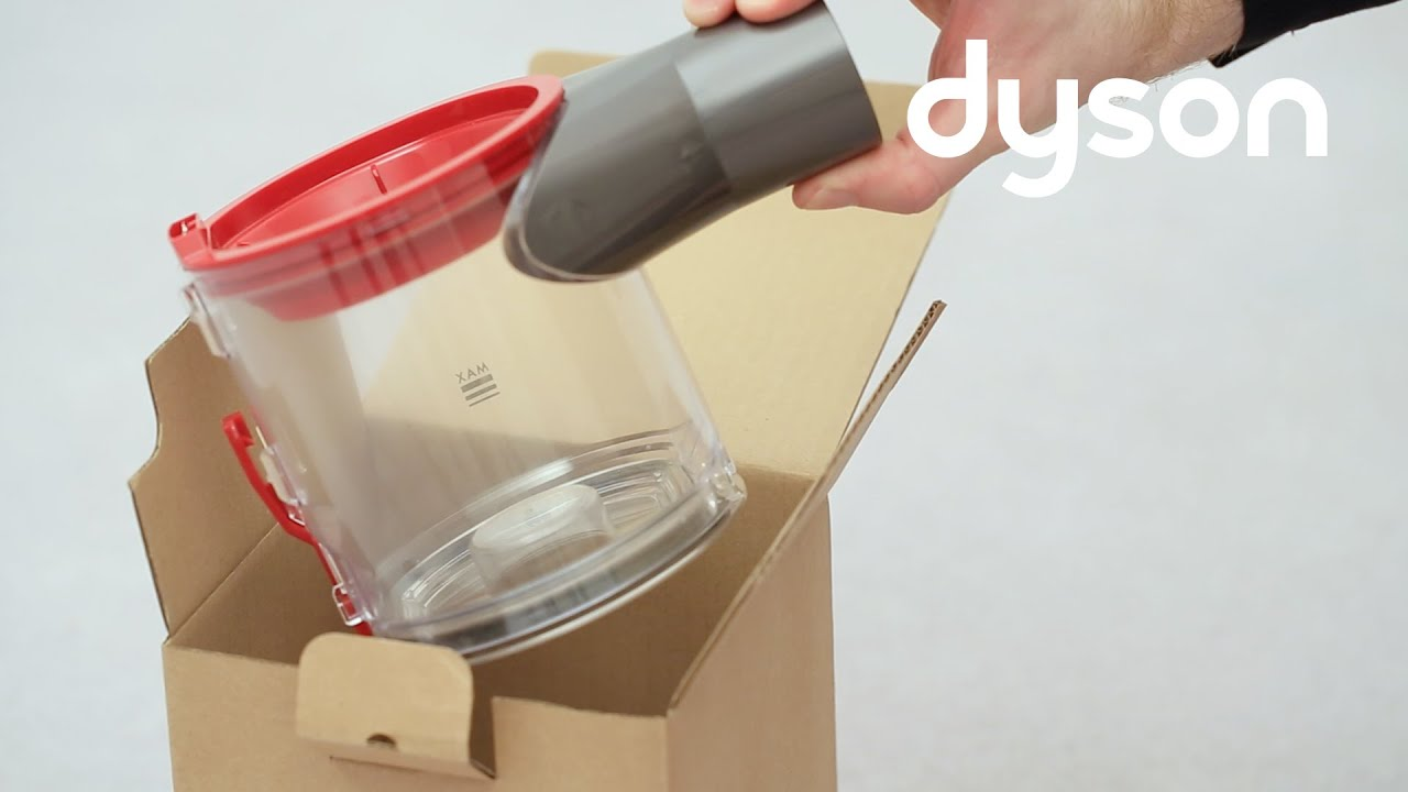 dyson v8 cord free vacuums replacing the clear bin uk youtube. Black Bedroom Furniture Sets. Home Design Ideas