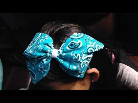 Moño Con Pañuelo Paliacate Fabric Bow Nenni Bows Youtube