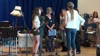 "Jan Howard Rehearsing ""Delta Dawn"" with Elizabeth Cook, Yolanda Quartey, and Other Artists"