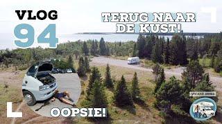 VLOG #94 Via de Storforsen rijden we naar de kust! En we hebben pech onderweg richting het zuiden!